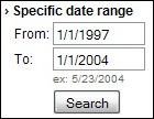 تحديد المدى الزمني للبحث