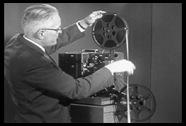 جهاز عرض الفلم القديم