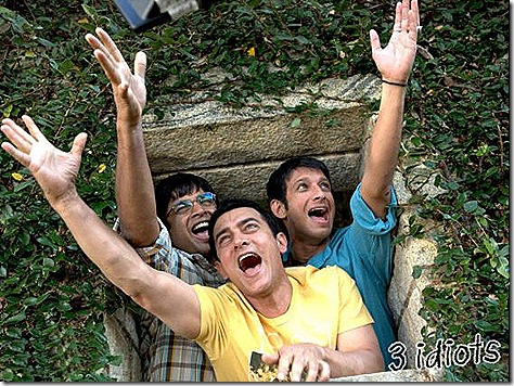 3idiots- Rancho, Farhan and Raju