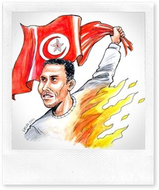 محمد البوعزيزي - بريشة كارلوس لطوف